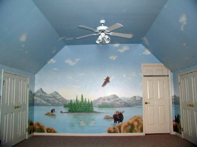 Sky Mural Lake Ceiling 001. U201c Part 89