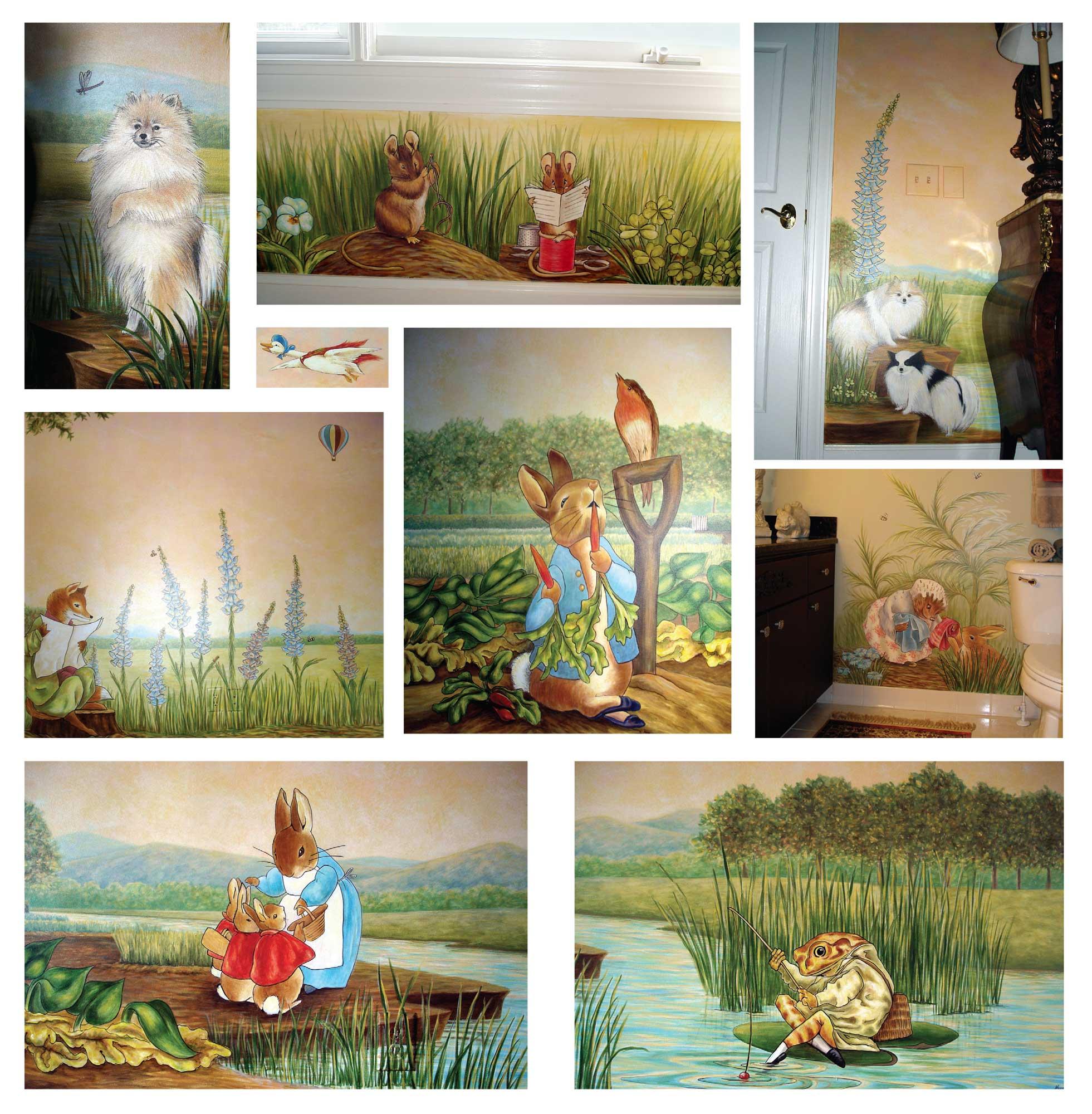 Mural Peter Rabbit Beatrix Potter Visionary Mural Co Atlanta
