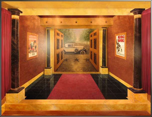 Art Deco Movie Palace Home Theater 2