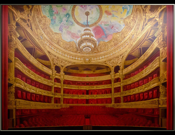 Paris Opera House Mural