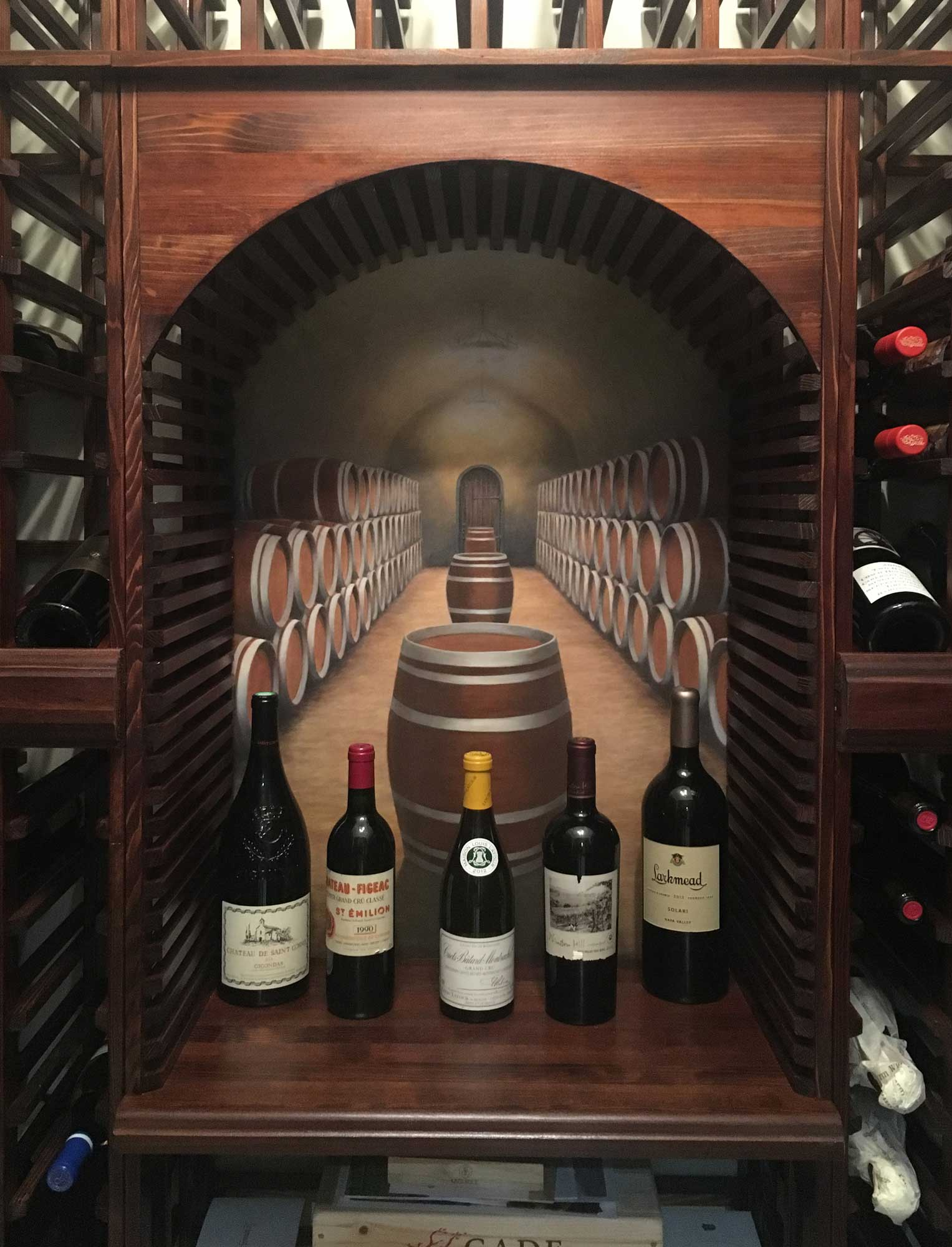 Oak wine barrels stock photo. Image of columns, vintner ...   Barrel Wine Cellar